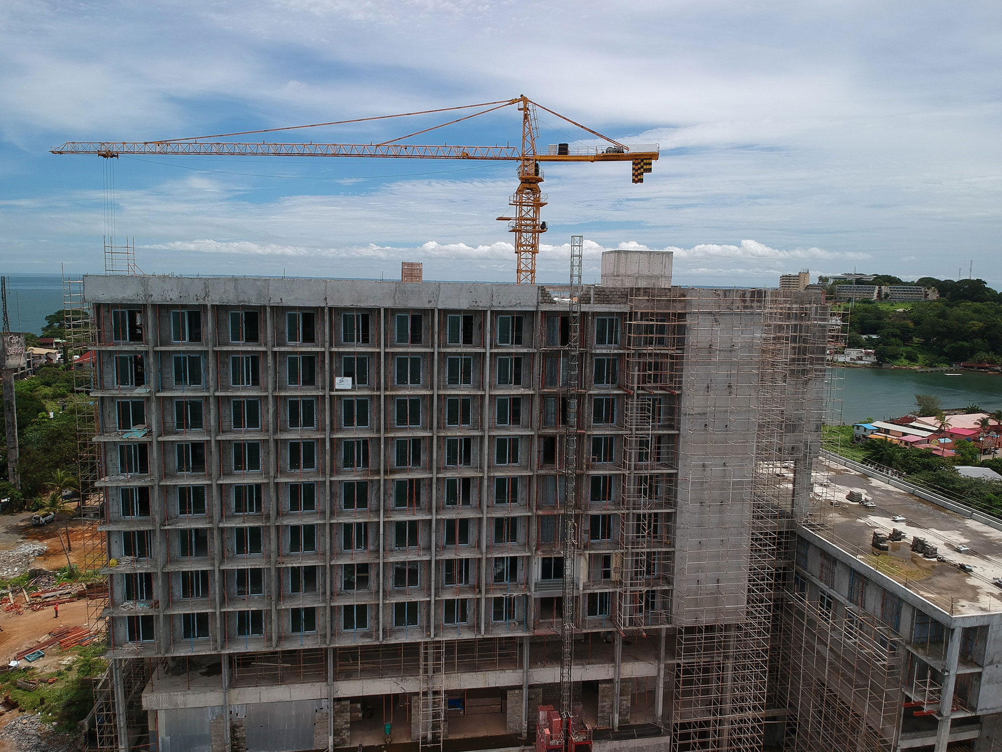 Cape Sierra Hilton Hotel under construction at Free Town, Sierra Leone