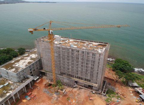 Cape Sierra Hilton Hotel under construction at Free Town, Sierra Leone